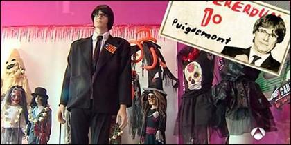 El disfraz de Carles Puigdemont.