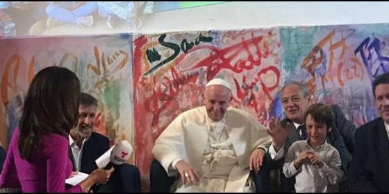 El Papa Francisco, en la sede de Scholas
