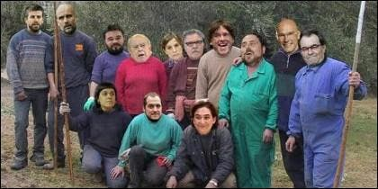 Los líderes independentistas catalanes, en un meme de Internet.