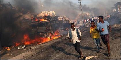 Ataque terrorista islámico en Mogadiscio.