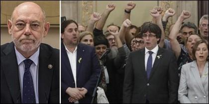 José Manuel Maza y los golpistas catalanes.