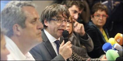 Carles Puigdemont, expresidente autonómico de Cataluña, en Bruselas.