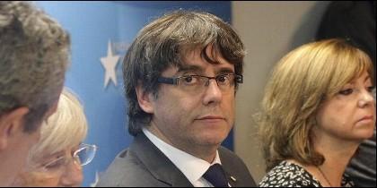 Puigdemont y sus consejeros en Bruselas.