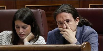 Irene Montero y Pablo Iglesias (PODEMOS).