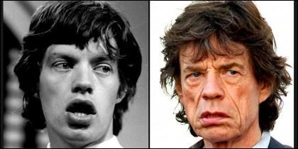 El envejecimiento del 'inmortal' Mick Jagger.