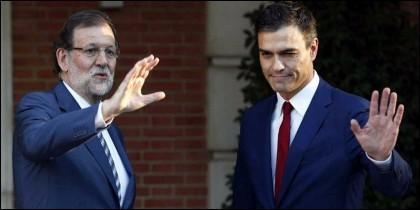Mariano Rajoy (PP) con Pedro Sánchez (PSOE).