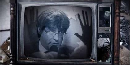 Carles Puigdemont, TV3 y la propaganda independentista en Cataluña.