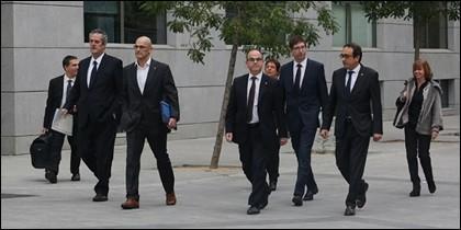 Los exconsellers de la Generalitat, en la Audiencia Nacional.