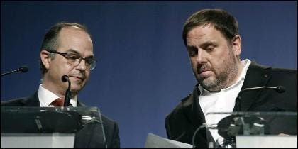 Jordi Turull y Oriol Junqueras.