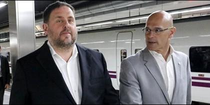 Oriol Junqueras y Raúl Romeva.