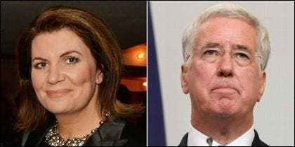 Julia Hartley-Brewer y Michael Fallon.