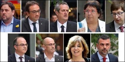 Junqueras y los ex consejeros catalanes enviados a prisión.