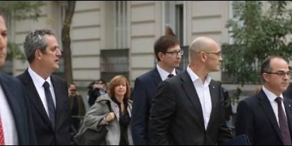 Algunos de los ex consellers detenidos