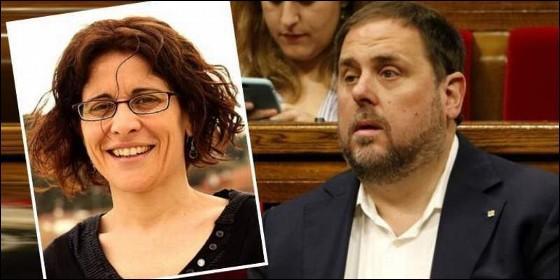 Neus Bramona y su marido Oriol Junqueras.