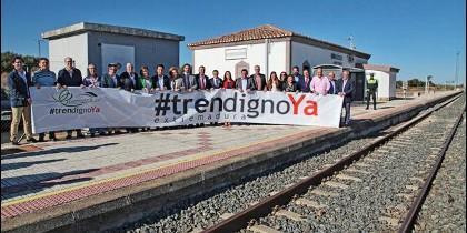 Extremadura reclama un tren digno ya