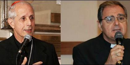 Cardenal Mario Poli y Monseñor Óscar Ojea