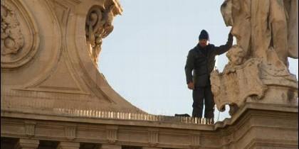 El hombre que se encaramó a la facha de la catedral de Murcia