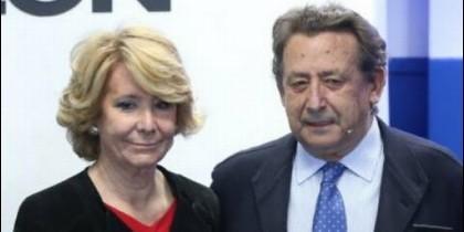 Esperanza Aguirre y Alfonso Ussía.