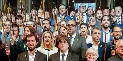 Puigdemont y los alcaldes