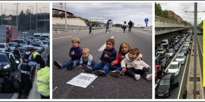 Huelga salvaje en Cataluña. 08-11-2017