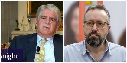 El ministro Dastis y Juan Carlos Girauta.
