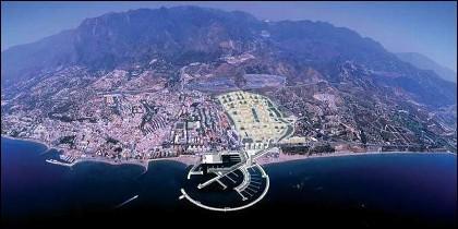 'La bajadilla' que ampliaba el puerto de Marbella.
