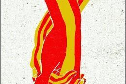 Manos entrelazadas Cataluña y España