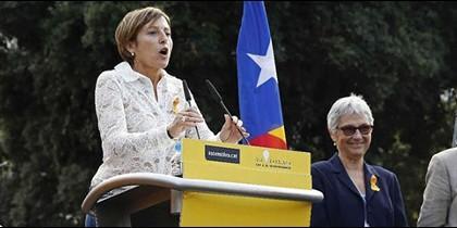 Carmen Forcadell, en un acto independentista.