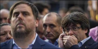 Oriol Junqueras y Carles Puigdemont, cuando eran 'socios'.