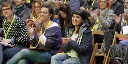 Anna Gabriel, en la asamblea extraordinaria de la CUP