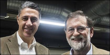 Xavier García Albiol con Mariano Rajoy (PP).