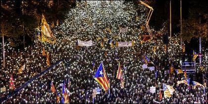 La manifestación de Barcelona por la liberación de Junqueras, el 11/11/2017.