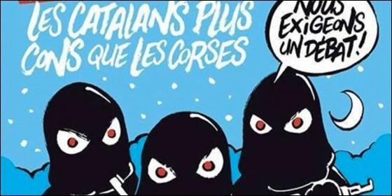 Los catalanes, más gilipollas que los corsos en Charlie Hebdo.