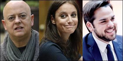 Odón Elorza, Andrea Levy y Fernando de Páramo.