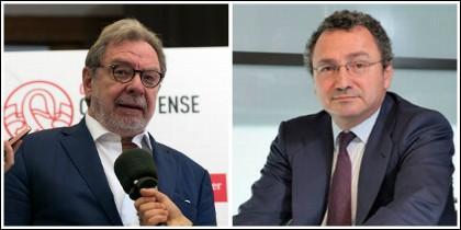 Juan Luis Cebrián y Manuel Polanco.