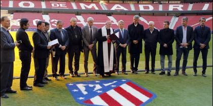 El cardenal de Madrid bendice el Wanda Metropolitano