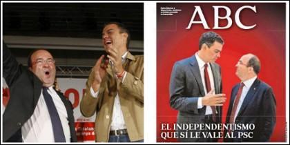 Pedro Sánchez y Miguel Iceta.