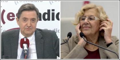 Federico Jiménez Losantos y Manuela Carmena.