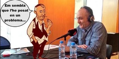 El senyor Bohigues y el humorista Eduard Biosca