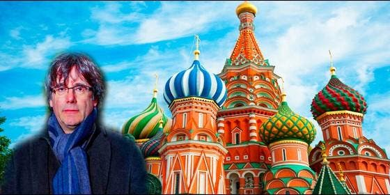 Puigdemont en Moscú, como el agente del KGB 'Cipollino'.