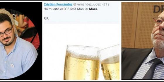 Christian Fernández, su asqueroso tuit y el fallecido José Manuel Maza.