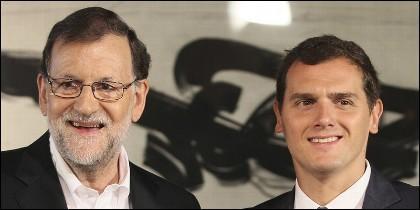 Mariano Rajoy (PP) y Albert Rivera (CIUDADANOS).