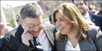 Susana Díaz con Ximo Puig (PSOE).