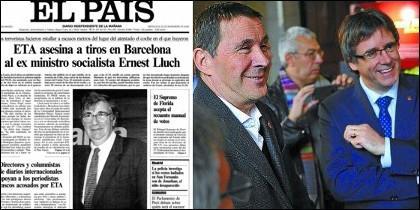 Portada de El País con el asesinato de Lluch el 21 de noviembre de 2000.