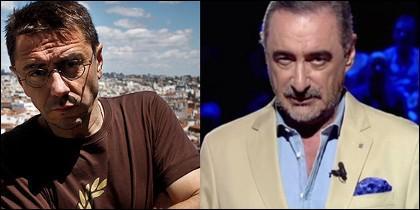 Juan Carlos Monedero y Carlos Herrera.
