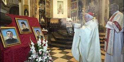 Los retratos de los tres beatos martirizados en tierras valencianas