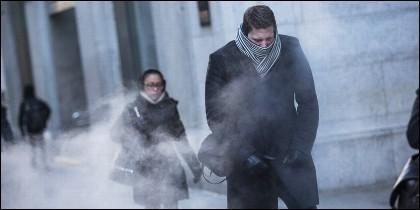 Frío polar, mal tiempo, hielo, escarcha y nieve.