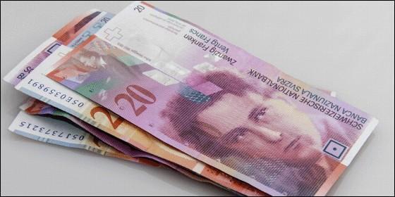 Billetes del franco suizo.
