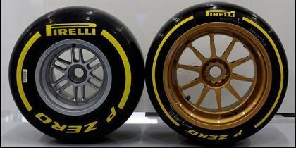 Neumáticos Pirelli.
