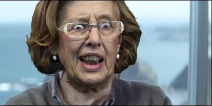 Un meme de Manuela Carmena, alcaldesa de Madrid, que circula por la Red.